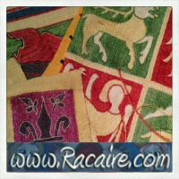 Racaire - medieval embroidery - projects 2014 - hand embroidery