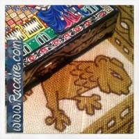 Sneak peek - hand sewing a pouch for my 14th century inspired Backgammon Game