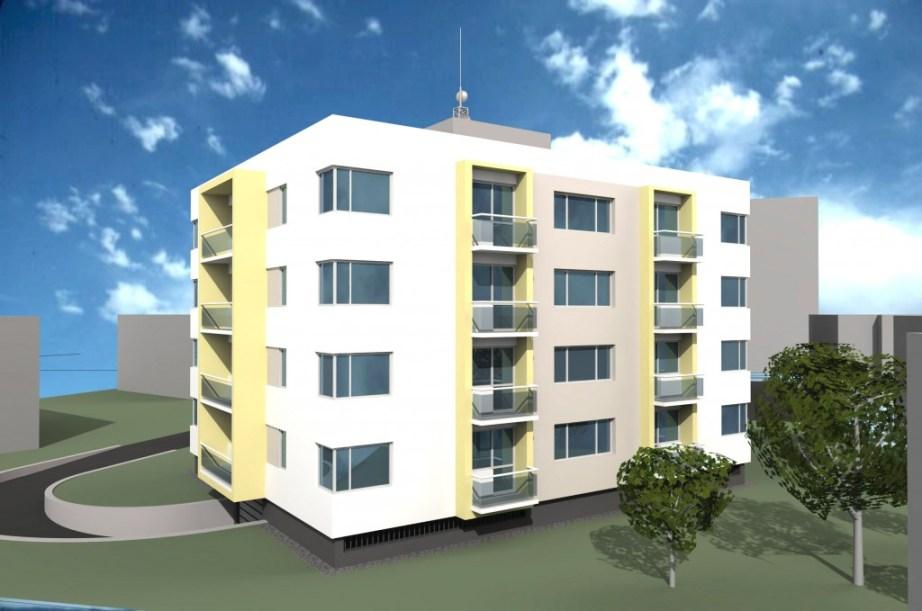 Vizualizácia nájomného bytového domu Na Pasekách
