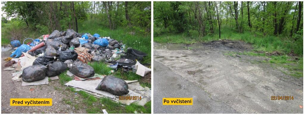 Čierna skládka v Rači, v lokalite Kalná, je odstránená. Dokedy bude miesto čisté?