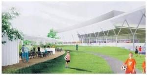 Projekt 3 (SAR): Pred športoviskami má vzniknúť pre návštevníkov úplne nová oddychová promenáda.