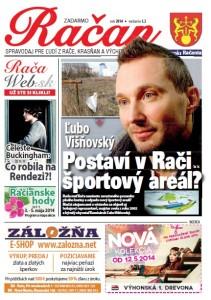 Spravodaj Račan, máj 2014. Titulná strana.