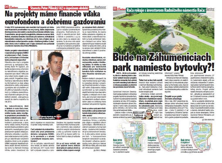 Rozhovor so starostom Petrom Pilinským o financovaní projektov a plán výmeny budovy v projekte Radničné námestie za park.