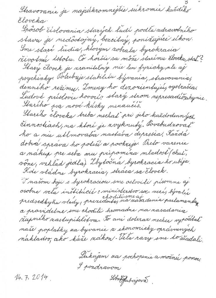Libuša Gabajová: Otvorený list pre Kisku