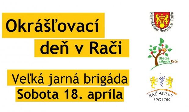 Brigáda v Rači bude v sobotu 18. apríla 2015 od 8:00 h.