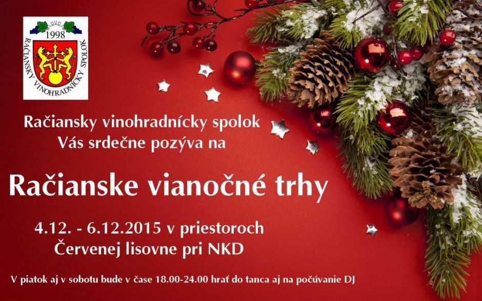 Vianočné trhy s vinármi v červenej lisovni pred NKD