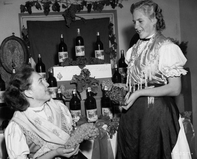Vinobranie 1950: Okresná slávnosť vinobrania v Rači. Zdroj: TASR/teraz.sk