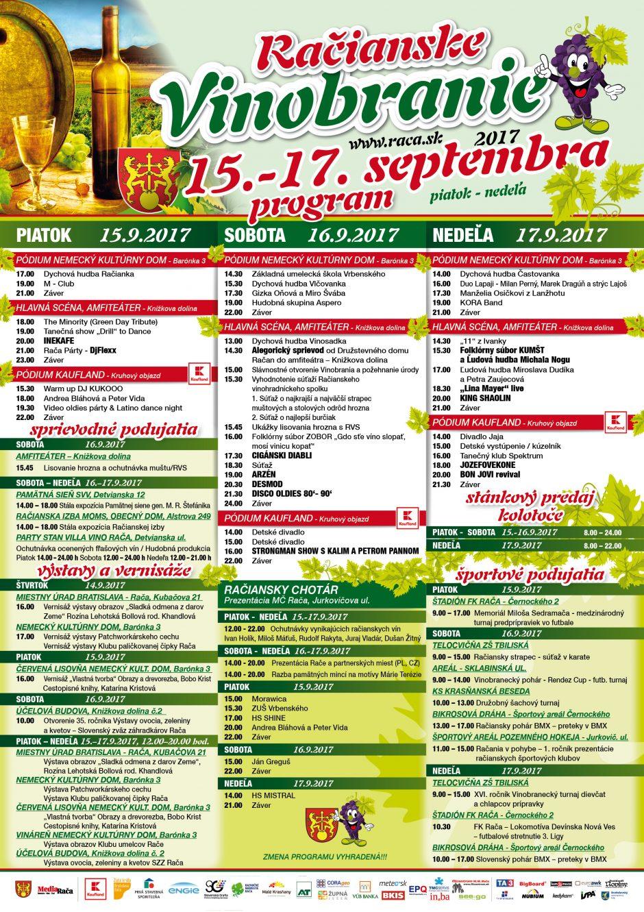 Račianske vinobranie 2017