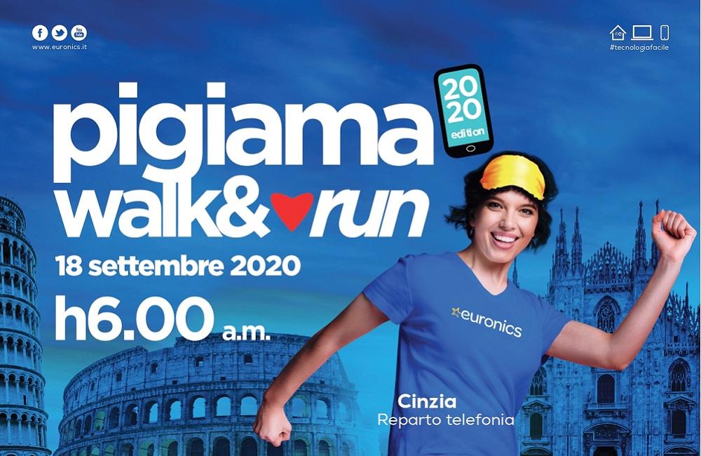 Euronics è partner di Pigiama Walk&Run