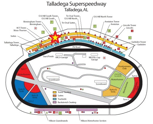 NASCAR Seating Charts Race Track and Speedway Maps