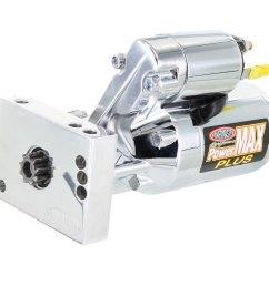 powermaster performance chrome chevy mini strter [ 1350 x 900 Pixel ]