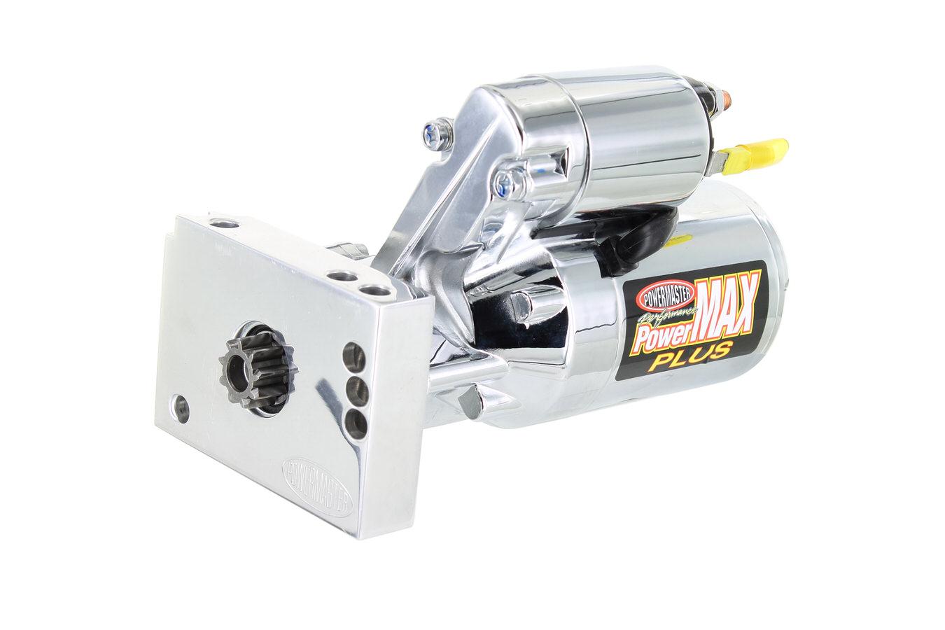 hight resolution of powermaster performance chrome chevy mini strter