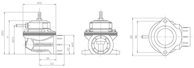 Subaru Impreza WRX/STI Blow-off valve Type FV (from 2008)