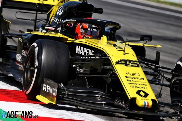 Jack Aitken, Renault, Circuit de Catalunya, 2019