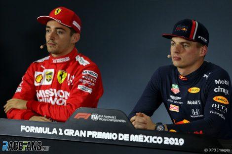 Charles Leclerc, Max Verstappen, Autodromo Hermanos Rodriguez, 2019
