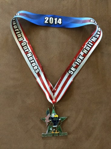 Honoring Our Heroes - race medal