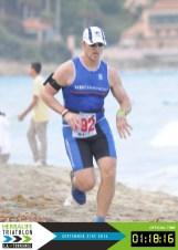 LA Tri sand run grimace