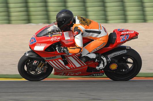 Michael Schumacher auf Ducati MotoGP in Valencia