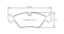 Pagid E1144 RS42 front brake pads for BMW M3 (E30) EVO I & II