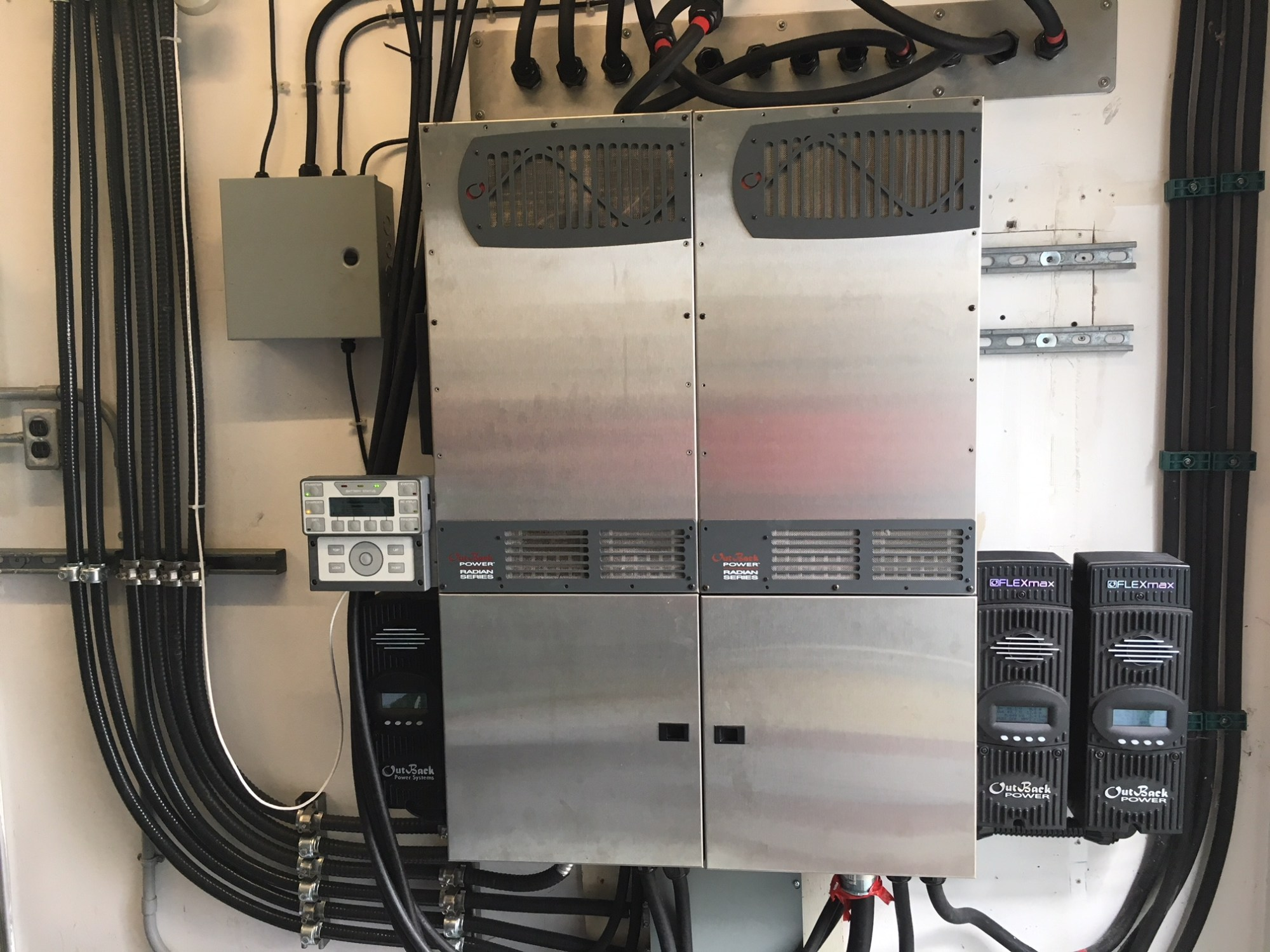 hight resolution of new control panels and inverters for the solar panels