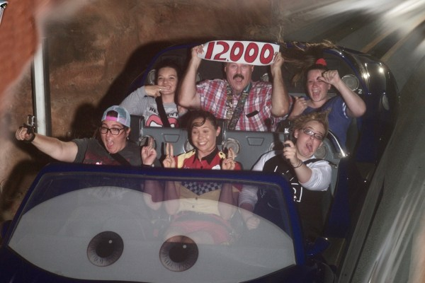 My 12,000th time on Radiator Springs Racers.