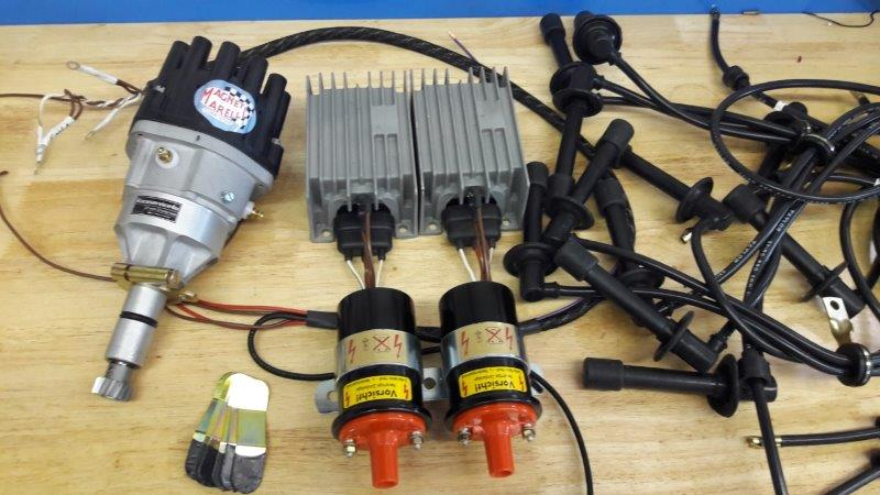 ignition coil distributor wiring diagram rj45 outlet shop complete set twin plug mm 27mm shaft of your choice 2 bosch case 6 pin or 3 boxes coils holders wireloom and plugwires