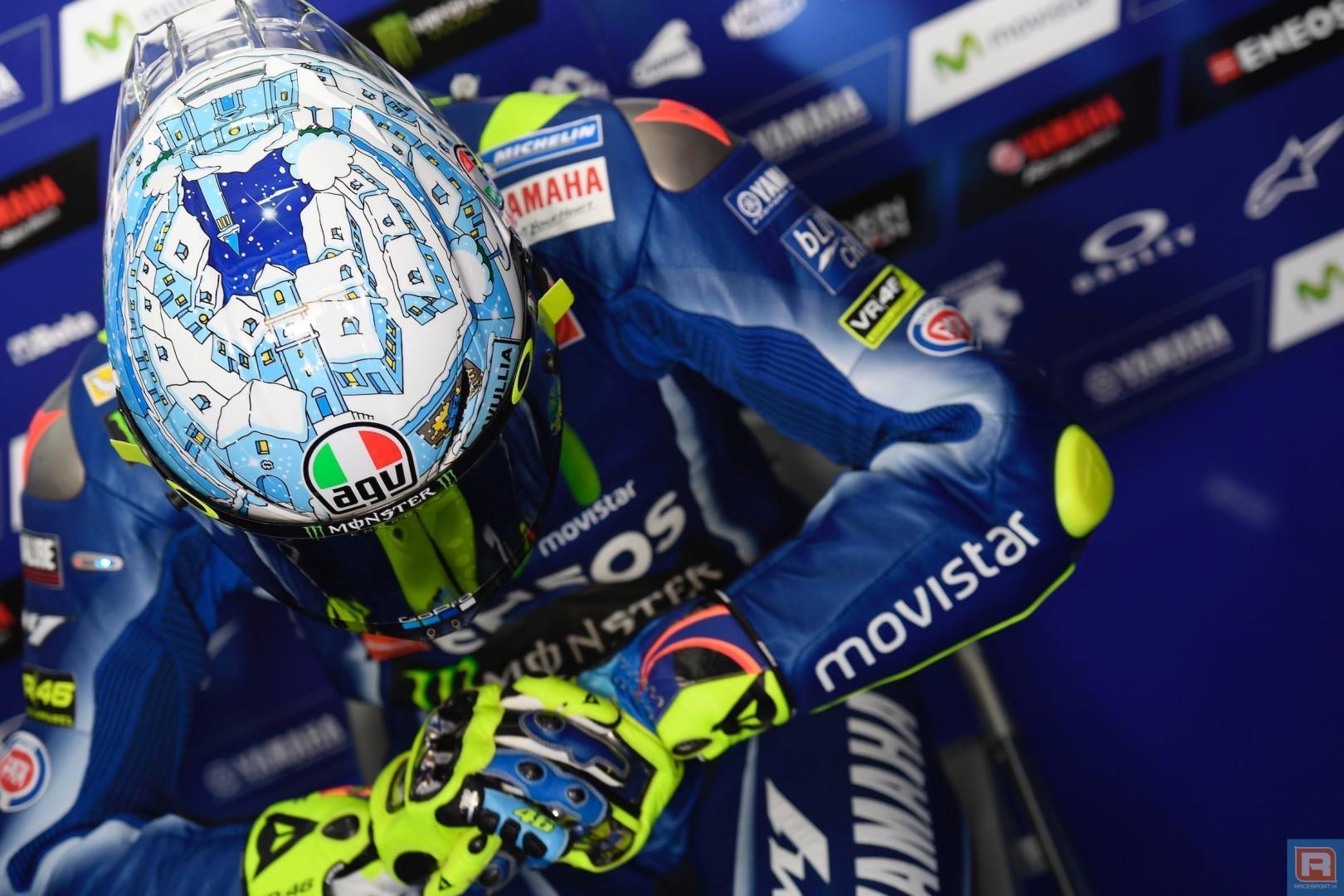 Kan Valentino Rossi tijdens de Grand Prix of Qatar het tij