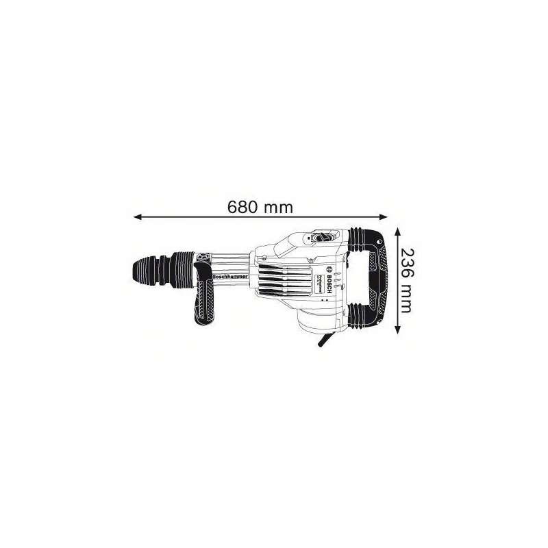Marteau-piqueur BOSCH SDS-max GSH 11 VC Professional 1700W