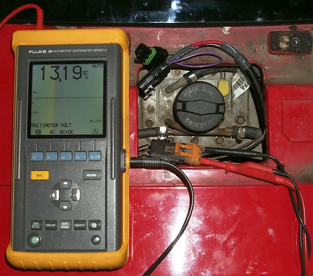 medium resolution of voltage with rx harness idle