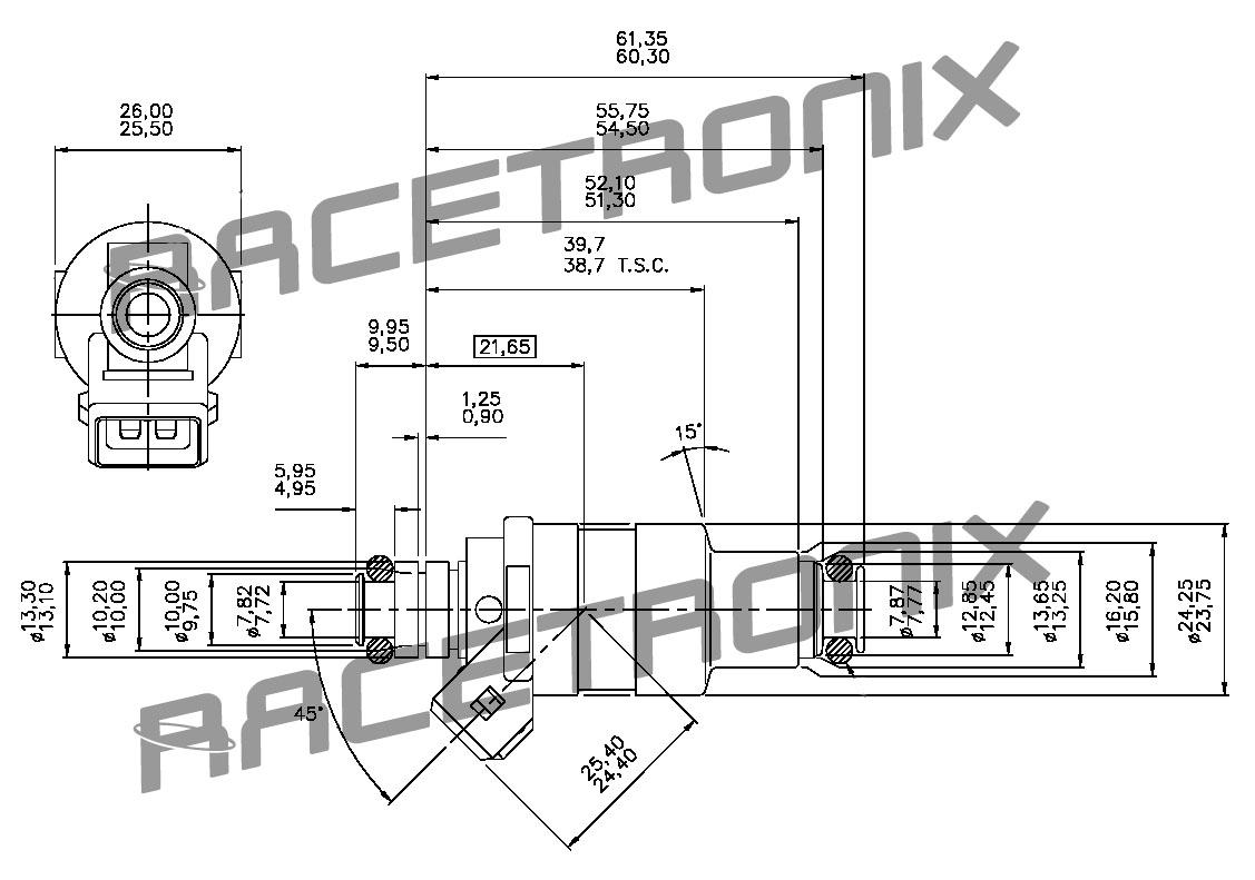 24 Lb Hr Disc High Z Fuel Injector D Xx Fuel