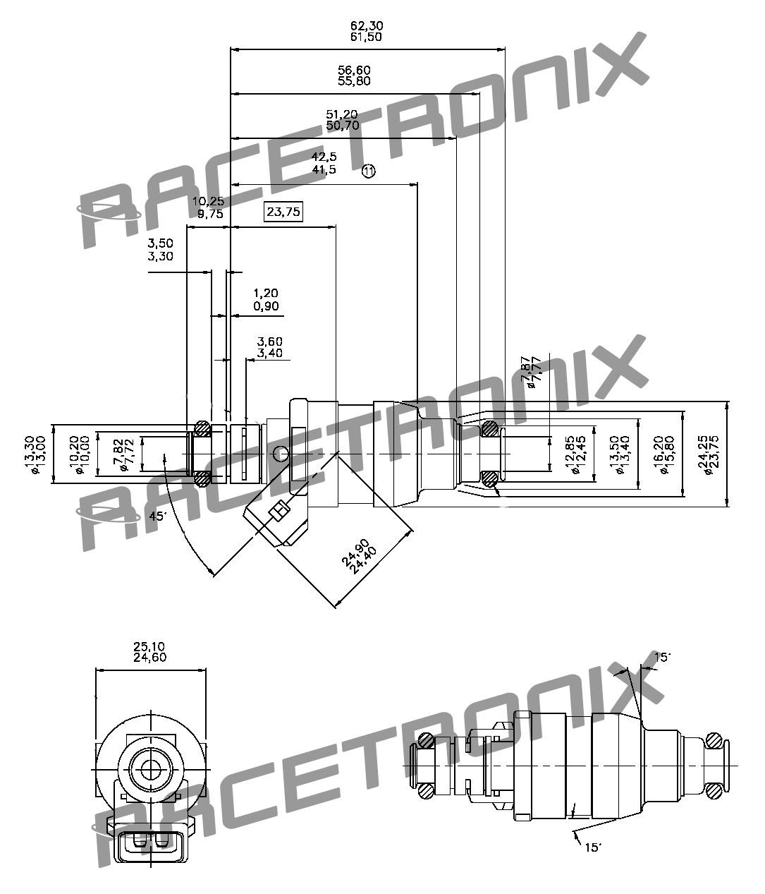 55 Lb Hr Low Z Injector 01d139x Fuel Injectors