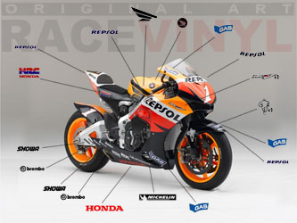 Kit carenado fairing Honda HRC CBR RCV racevinyls repsol racevinyl pegatinas vinilo adhesivos