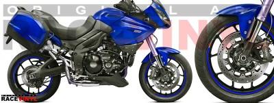 Racevinyl pegatinas llanta moto vinilo sticker rim wheel KTM Triumph Tiger 1050 azul