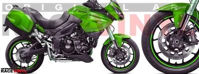 Racevinyl pegatinas llanta moto vinilo sticker rim wheel KTM Triumph Tiger 1050 verde