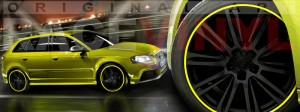 Racevinyl Audi A3 RS3 S3 Vinilo vinyl rim amarillo fluor