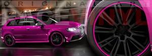 Racevinyl Audi A3 RS3 S3 Vinilo vinyl rim rosa