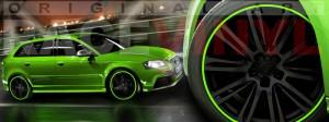 Racevinyl Audi A3 RS3 S3 Vinilo vinyl rim verde