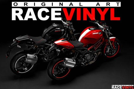 Racevinyl Ducati Monster 400 620 696 659 750 796 800 900 s2r s4r 1000 1100 s r ie evo 1200 pegatina adhesivo rueda llanta vinilo rim sticker stripe vinyl wheel 04