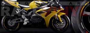 Racevinyl Honda CBR 600 RR vinyl rim wheel sticker stripe pegatina adhesivo llanta rueda vinilo amarillo yellow