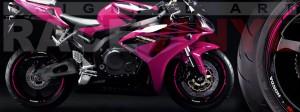 Racevinyl Honda CBR 600 RR vinyl rim wheel sticker stripe pegatina adhesivo llanta rueda vinilo rosa pink