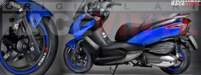 Racevinyl Kymco Superdink 125 pegatinas vinilos adhesivos llanta stickers vinyls stripes rim genericos azul