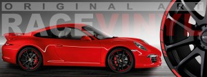 Racevinyl Porsche 911 carrera s cayenne panamera boxter vinilo rojo