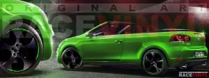 Racevinyl Volkswagen Golf GTI vinilo pegatina adhesivo Spire vinyl sticker llanta rueda verde