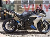 YAMAHA YZF R1 with Racevinyl Standard Blue Stripes with Yamaha Logos