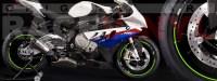 Racevinyl pegatinas llanta moto vinilo sticker rim wheel BMW S1000rr verde