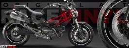 Racevinyl pegatinas llanta moto vinilo sticker rim wheel Ducati Monster cromado