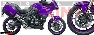 Racevinyl pegatinas llanta moto vinilo sticker rim wheel KTM Triumph Tiger 1050 violeta