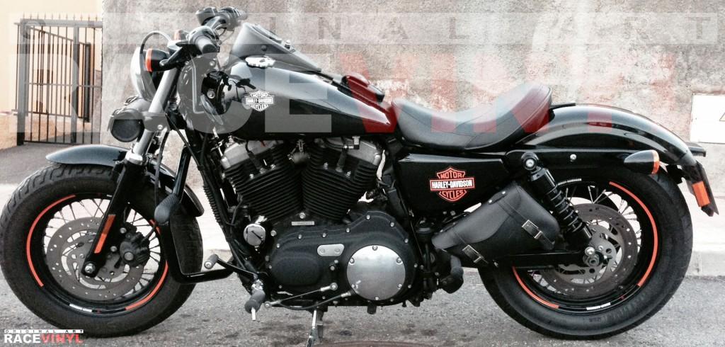 Harley Davidson Sportster 1200 adhesivos racevinyl sticker stripes rim pegatinas logo vinyl vinilo
