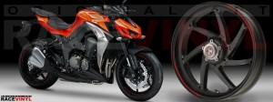 Racevinyl Kawasaki Z1000 ARROW pegatina vinilo llanta adhesivo rim sticker stripes wheel rojo