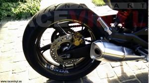 Racevinyl Honda CBR 600 F 2012 02 negra black pegatina adhesivo vinilo banda llanta moto rueda vinyl rim sticker kit stripe wheel tuning